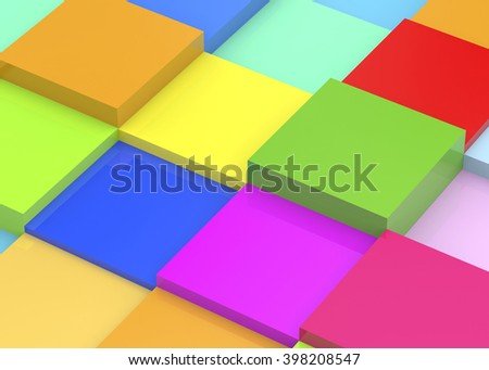 Colorful Cube - 3D
