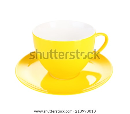 Colorful cup isolated on white