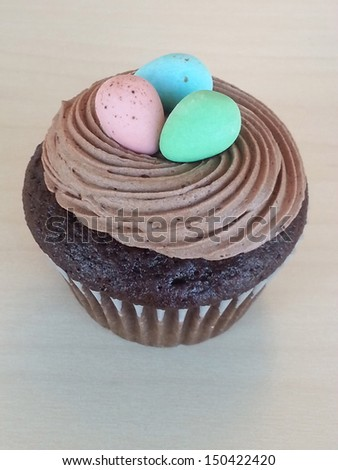 Colorful cupcake - stock photo