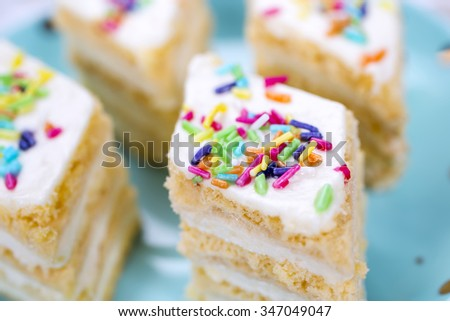 Colorful cupcake with cream