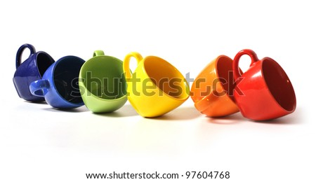 Colorful cups - stock photo