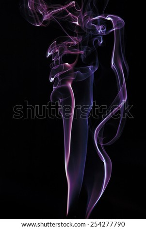 colorful curl of smoke for graphic design  - stock photo