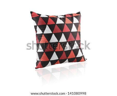 Colorful cushion isolated on white background - stock photo