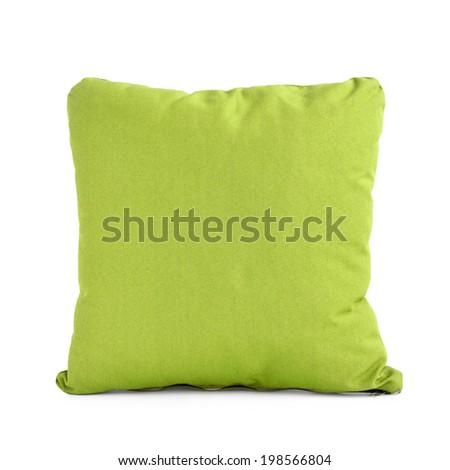 Colorful cushion isolated on white background - stock photo
