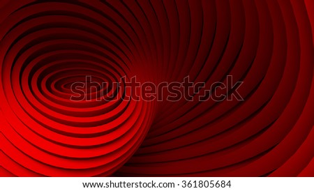 Colorful 3D abstract (Red color)