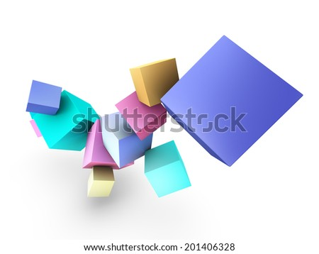 Colorful 3d Box Objects