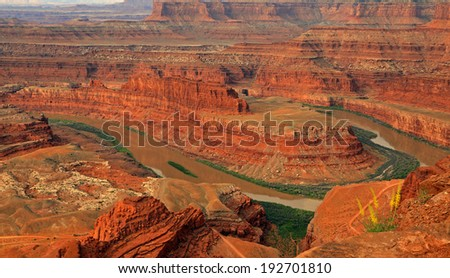 Colorful desert landscape at Dead Horse Point, Utah, USA. - stock photo