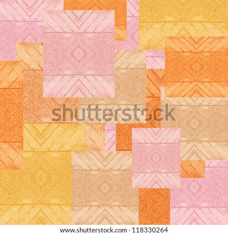 colorful designer architect sample of colored stones for background - stock photo