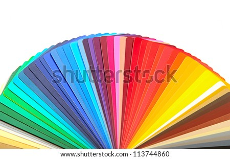 colorful designer swatch palette guide chart spectrum - stock photo