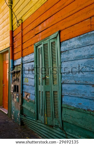 Colorful detail in the neighbourhoud of La Boca, Bueonos Aires, Argentina