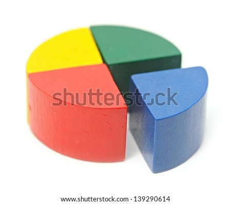 Colorful diagram on the white background. - stock photo
