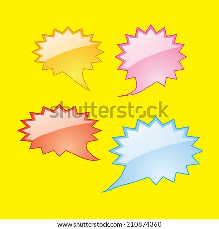 colorful dialog speech bubbles icons
