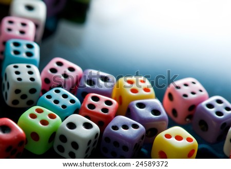 Colorful dices background