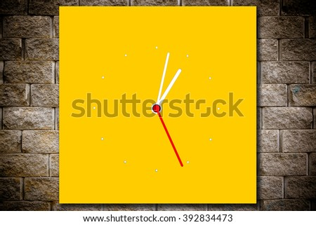 Colorful digital clock isolated on beautiful background.