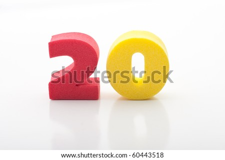 colorful digits - stock photo