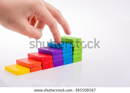 Colorful domino on white background