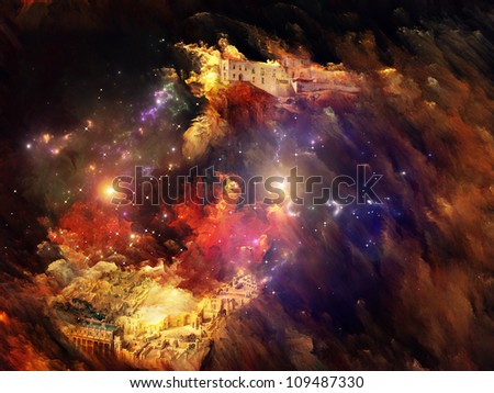 Colorful dreamscape - number two of Solaris series. - stock photo