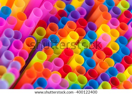 Colorful drink straws.