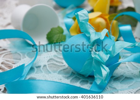 Colorful easter egg - stock photo