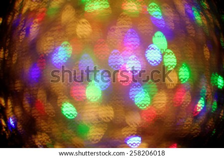 colorful easter egg bokeh background - stock photo