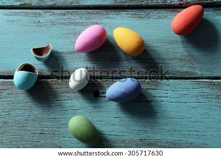 Colorful easter egg collection - stock photo