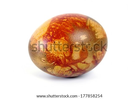 Colorful easter egg isolated over white background