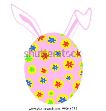 COLORFUL EASTER EGG WITH EARS