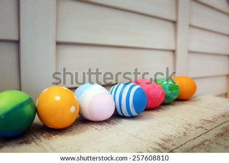 Colorful easter eggs. Background with easter eggs.