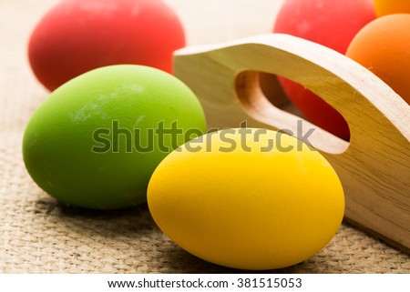 Colorful eggs for holiday easter.