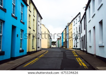 Colorful English Traditional Building Houses Home Exterior Design Of Row UK Residential Buildings