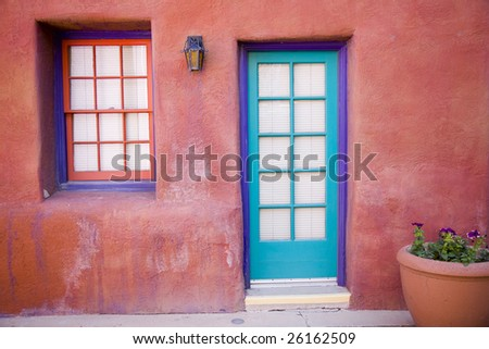 colorful entrance in Tucson Arizona - stock photo