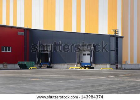 Colorful exterior of new distribution warehouse