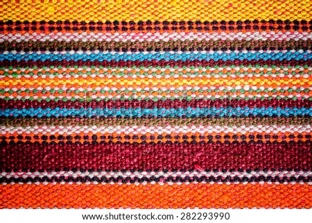 Colorful fabric strip lines style