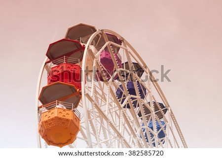 Colorful ferris wheel  - stock photo