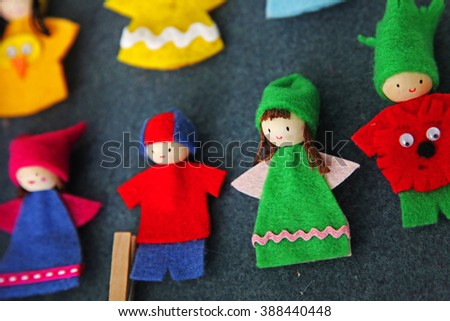 Colorful finger puppets