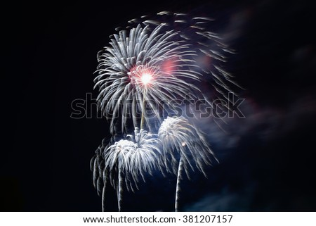 Colorful fire work for background