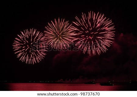 colorful fireworks display - stock photo