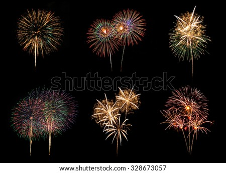 Colorful Fireworks display celebration