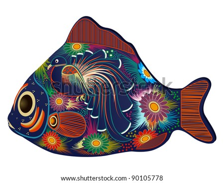 Colorful fish - stock photo