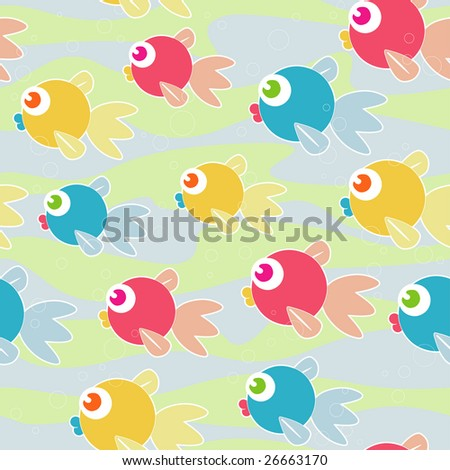 Colorful Fish Seamless Design