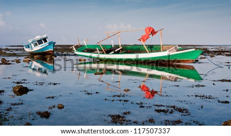 Colorful Fishing Boats in Indonesia
