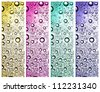 colorful fizzy bubbles set - stock photo