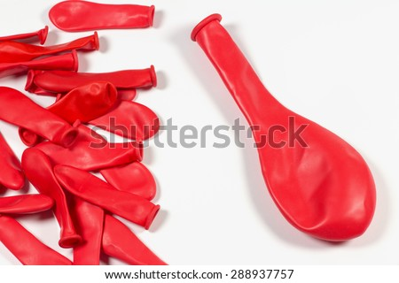 Colorful Flat Balloons Isolated in White Background.
