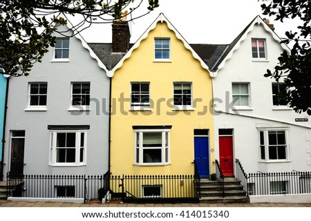 Colorful flat in England - stock photo