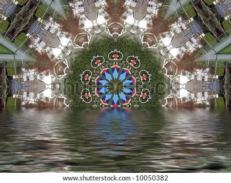 colorful Flooded fractal background