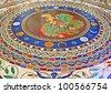 Colorful floor, Vatican City - stock photo