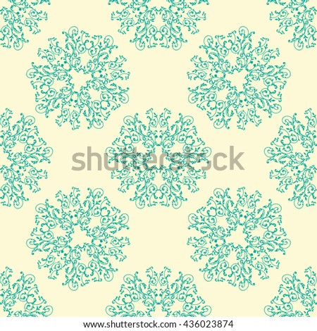 colorful floral pattern background - stock photo