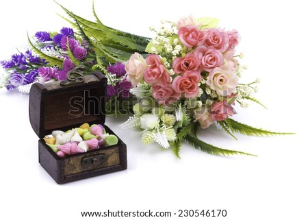 Colorful flower arrangement  - stock photo