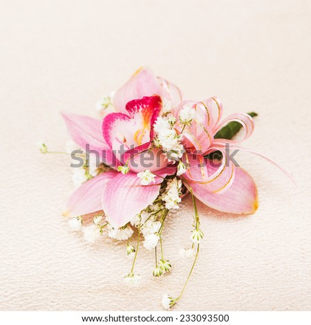 colorful flower wedding for bride isolated on white background