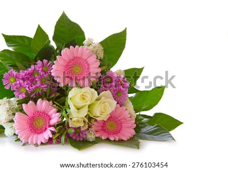 Colorful flowers bouquet . - stock photo